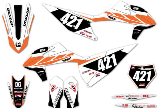 KTM Dirt Bike Graphics TONUS White