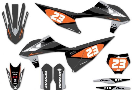 KTM Motocross Graphics DELTA Grey