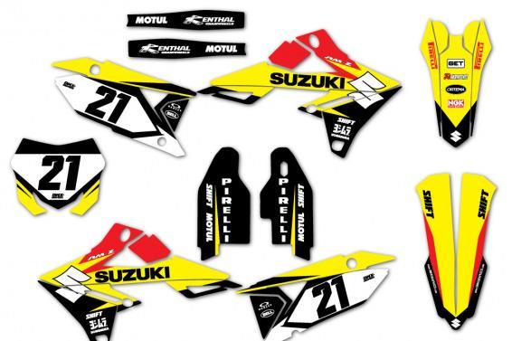 Suzuki Mx Graphics Zinger Yellow