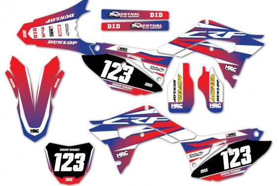 Honda Motocross Graphics Force Blue CR CRF
