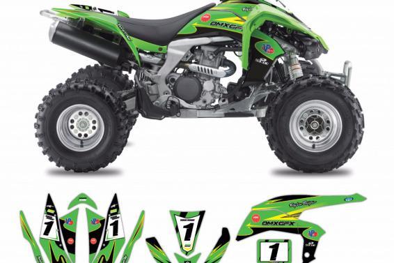 Kawasaki ATV Graphics NND Green