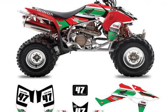 Honda ATV Graphics Shift Green