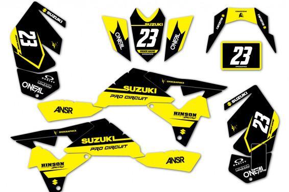 Suzuki Bandit ATV Graphics Design Kit