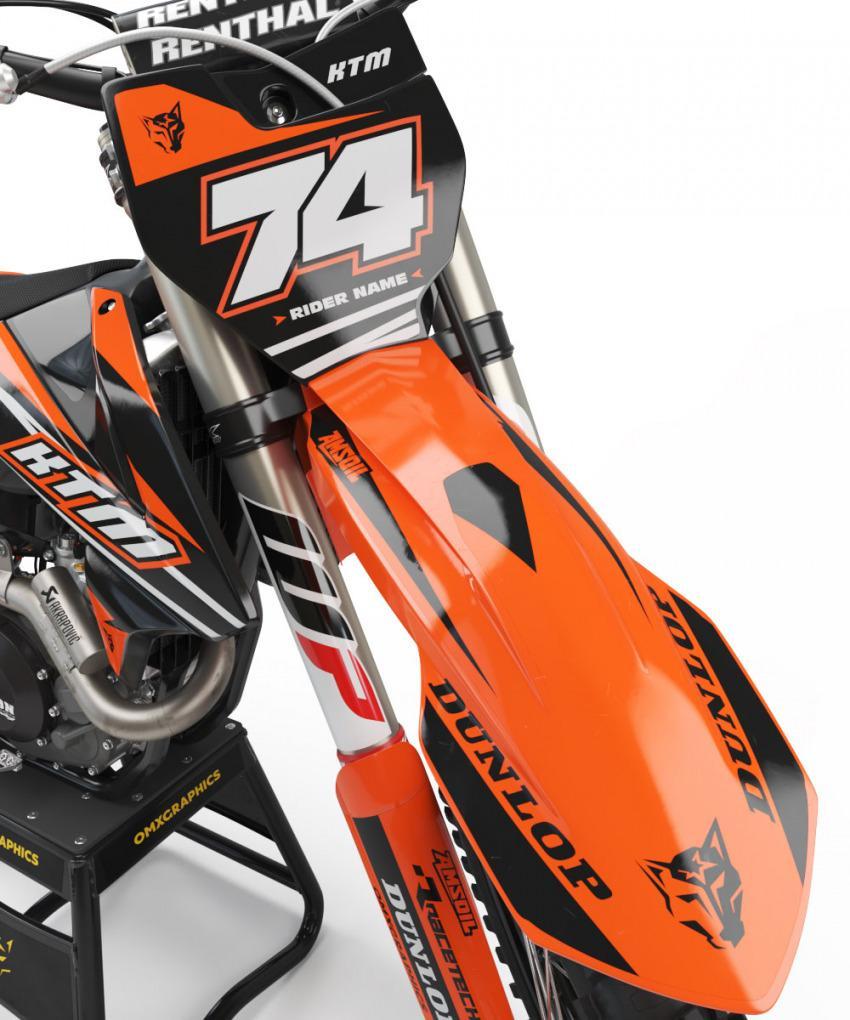 KTM Dirt Bike Graphics Kit Rage Front