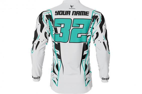 Motocross Jersey Siberian Light Grey Back