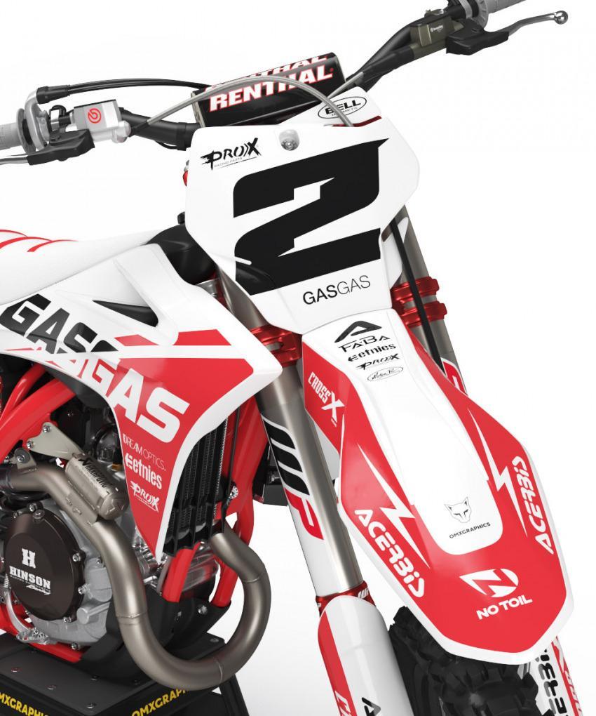 GasGas Graphics Kit Mx Corsa Front