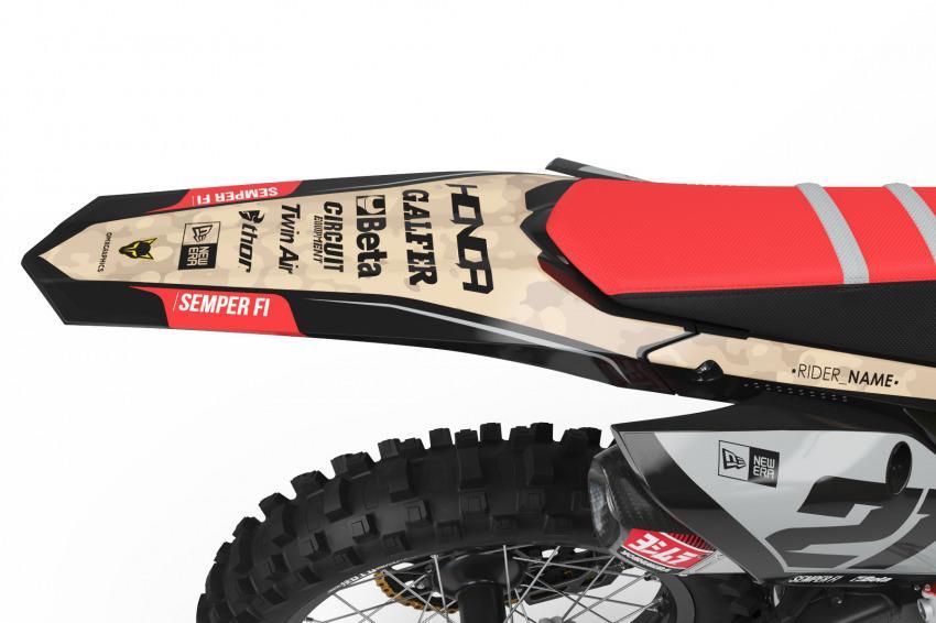 Honda Mx Graphics Kit Semper Fi Tail