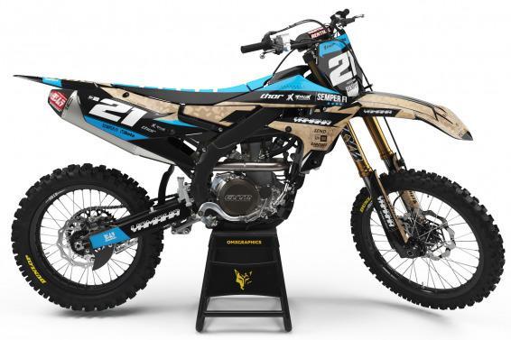 Yamaha Motocross Graphics Kit Semper Fi